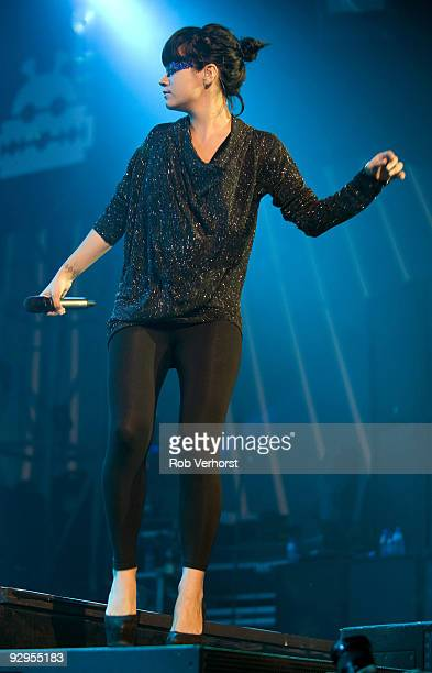 Lily Allen performs on stage at the Lowlands Festival on August 21st 2009 in Biddinghuizen Netherlands