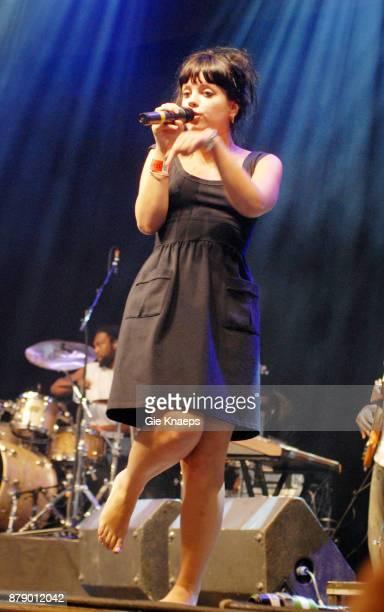 Lily Allen Rock Werchter Festival Werchter Belgium 29th June 2007