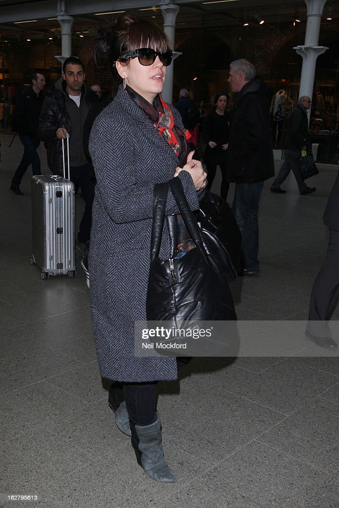 Lily Allen seen at King's Cross St Pancras on February 27, 2013 in London, England.