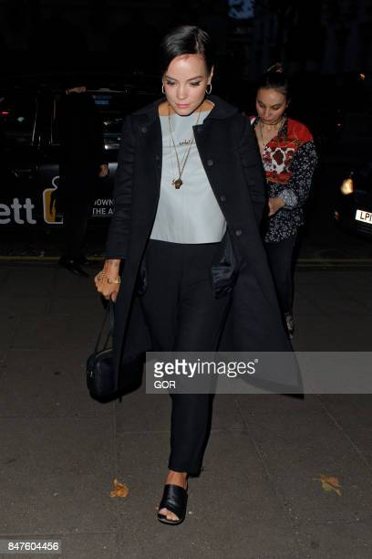 Lily Allen sighting at the Waldorf hotel on September 15 2017 in London England