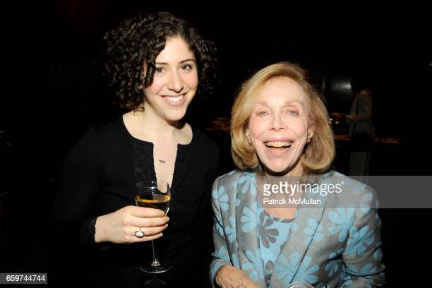 Lily Arbisser and Dr Joyce Brothers attend PARADE MAGAZINE and SI Newhouse Jr honor Walter Anderson at The 4 Seasons Grill Room on March 31 2009 in...