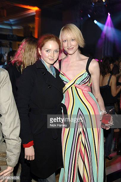 Lily Cole and Jade Parfitt during 2005 Lancome Colour Design Awards Inside at Freemason's Hall in London Great Britain
