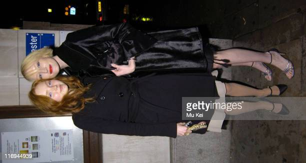 Lily Cole and Jade Parfitt during The Supper Club After Party Arrivals at Porchester Hall in London Great Britain
