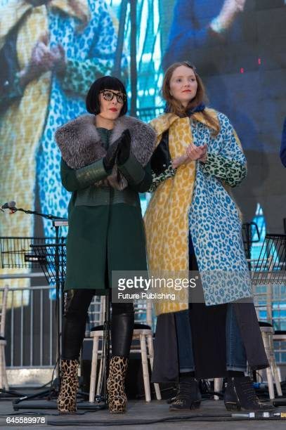 Lily Cole and Noomi Rapace at the screening of Oscarnominated film The Salesman by Iranian director Asghar Farhadi in Trafalgar Square on February 26...