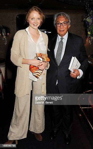 Lily Cole and Sir David Tang attend the launch of 'The New Digital Age Reshaping The Future Of People Nations and Business' by Eric Schmidt and Jared...