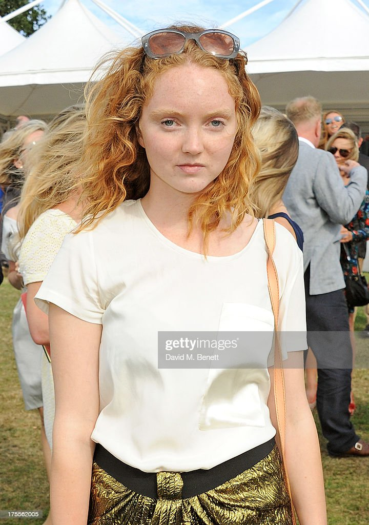 Lily Cole attends day 2 of the Audi Polo Challenge at Coworth Park Polo Club on August 4, 2013 in Ascot, England.