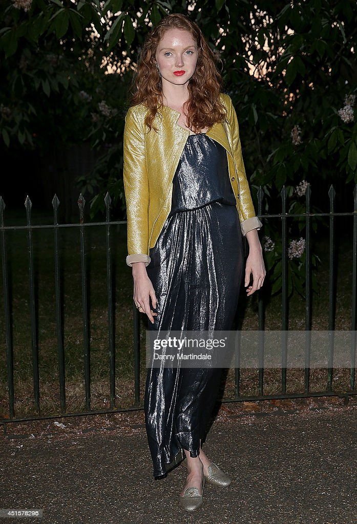 <a gi-track='captionPersonalityLinkClicked' href=/galleries/search?phrase=Lily+Cole&family=editorial&specificpeople=206320 ng-click='$event.stopPropagation()'>Lily Cole</a> attends the annual Serpentine Galley Summer Party at The Serpentine Gallery on July 1, 2014 in London, England.