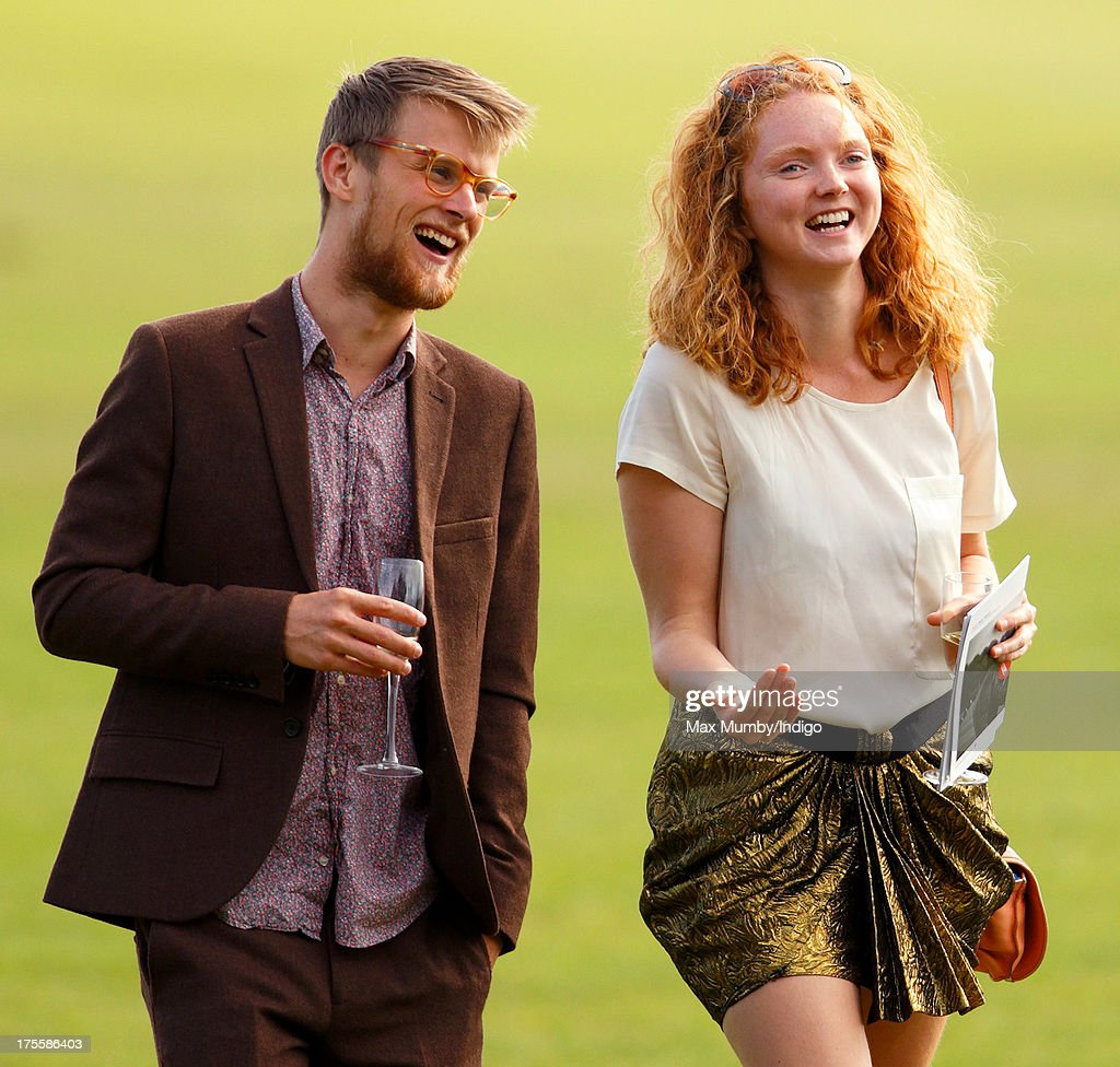 Lily Cole (R) attends the Audi Polo Challenge at Coworth Park Polo Club on August 4, 2013 in Ascot, England.