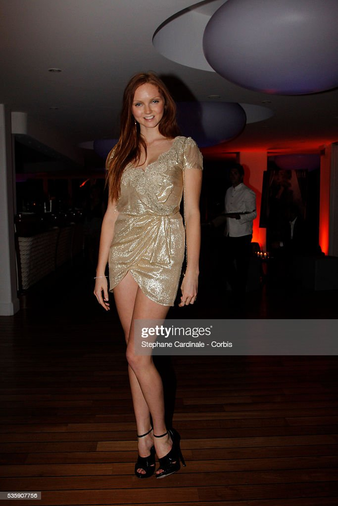 Lily Cole attends the 'Dior Dinner' during the 63rd Cannes International Film Festival.