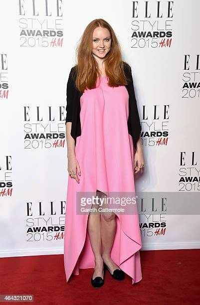 Lily Cole attends the Elle Style Awards 2015 at Sky Garden @ The Walkie Talkie Tower on February 24 2015 in London England