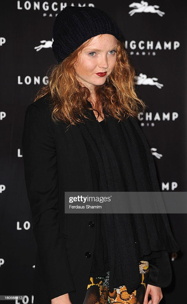 <a gi-track='captionPersonalityLinkClicked' href=/galleries/search?phrase=Lily+Cole&family=editorial&specificpeople=206320 ng-click='$event.stopPropagation()'>Lily Cole</a> attends the grand opening party of Longchamp Regent Street at Longchamp on September 14, 2013 in London, England.