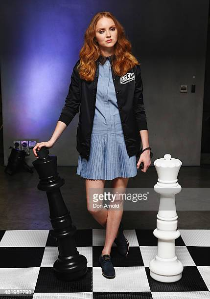Lily Cole attends the GStar Autumn/ Winter 2014 Launch Event at Museum of Contemporary Art on April 2 2014 in Sydney Australia