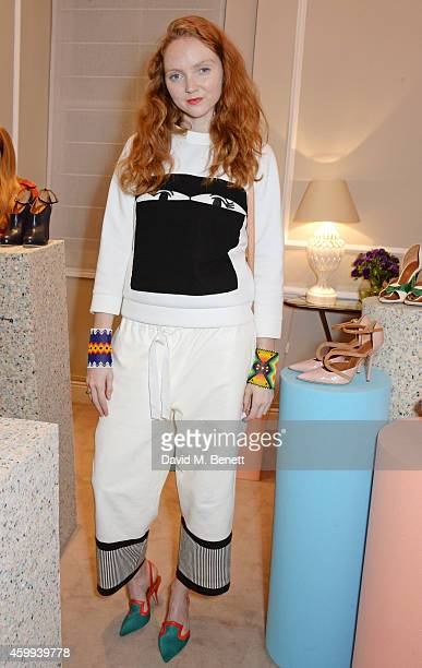 Lily Cole attends the Launch of the Malone Souliers SS15 Collection at MATCHESFASHIONCOM on December 4 2014 in London England