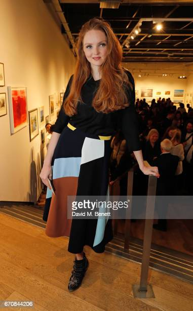 Lily Cole attends the press night after party for 'The Philanthropist' at the Mall Galleries on April 20 2017 in London England