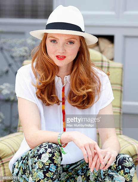 Lily Cole attends the VIP preview day of The Chelsea Flower Show at The Royal Hospital Chelsea on May 19 2014 in London England