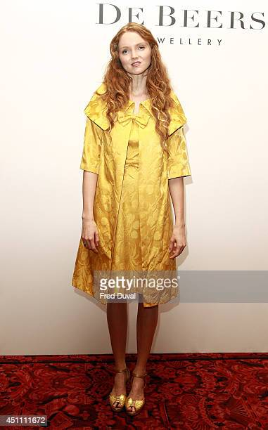Lily Cole attends the Women for Women International De Beers Summer Evening at The Royal Opera House on June 23 2014 in London England