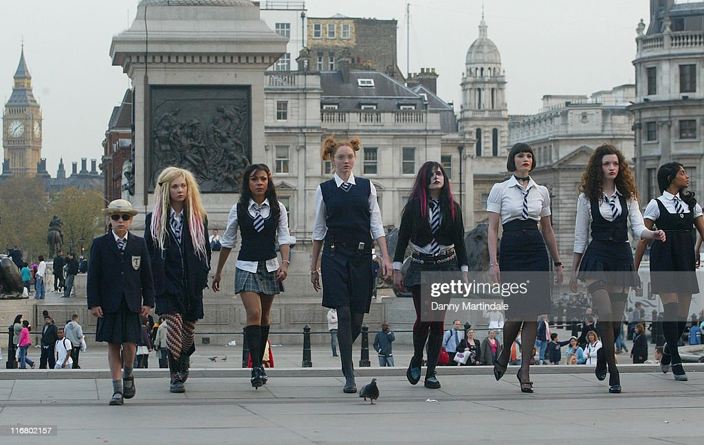 Lily Cole during Filming of 'St. Trinian's' in Trafalgar Square - April 11, 2007 at Trafalgar Square in London, Great Britain.