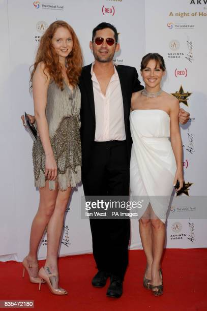 Lily Cole Enrique Murciano and Elsa Pataky arrive at the Hollywood Domino party hosted by Akvinta vodka at the House of Cannes in Cannes France