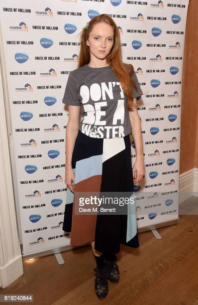 Lily Cole helps launch recycled plastic #swapforgood charity tshirts designed by Henry Holland in conjunction with BRITA to draw attention to the 15...