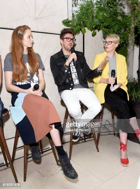 Lily Cole Henry Holland and Emma Gannon launch recycled plastic #swapforgood charity tshirts designed by Henry Holland in conjunction with BRITA to...