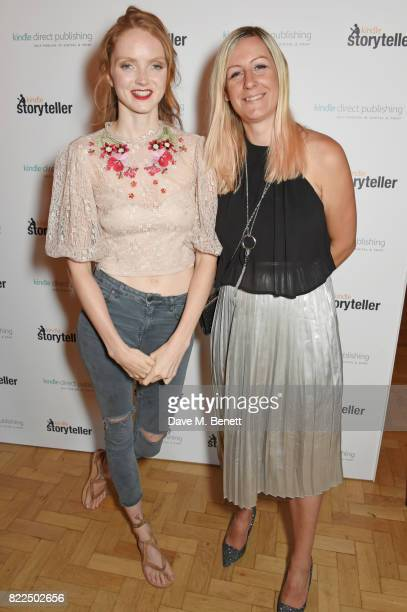 Lily Cole poses with shortlisted author Joanna Mazurkiewicz at the Kindle Storyteller Award ceremony 2017 recognising newly published work in the...