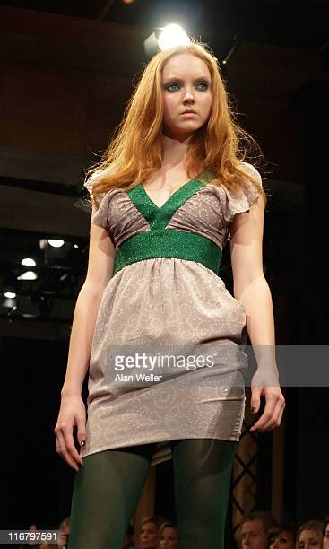 Lily Cole wearing Alice McCall Autumn/Winter 2007 during London Fashion Week Fall/Winter 2007 Alice McCall Runway at Almada in London Great Britain