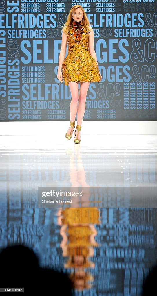 Lily Cole wears Alexander McQueen while walking the runway at annual fundraiser organised by Shay Given and his wife Jane in aid of Macmillan Cancer...