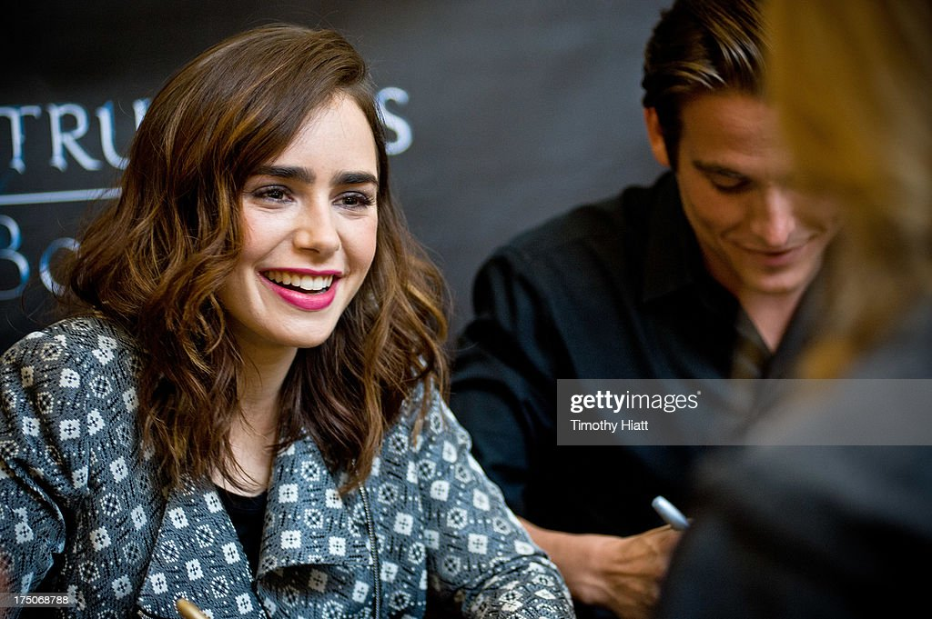 Lily Collins and Kevin Zegers sign autographs for fans in anticipation of Screen Gems' action-fantasy