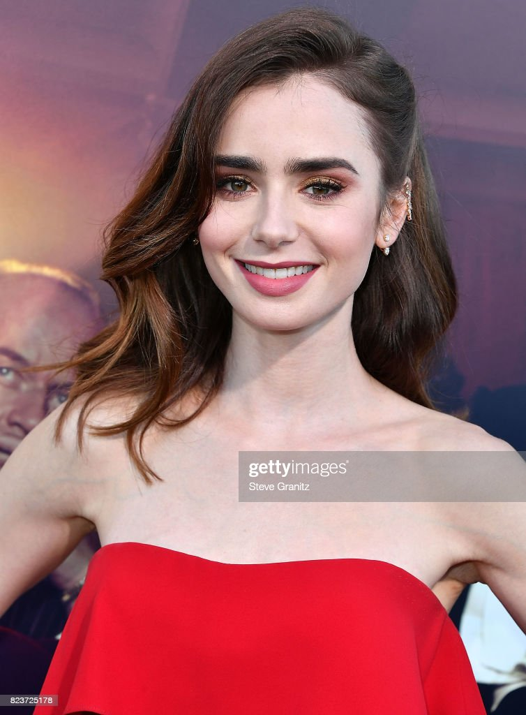 Lily Collins arrives at the Premiere Of Amazon Studios' 'The Last Tycoon' at the Harmony Gold Preview House and Theater on July 27, 2017 in Hollywood, California.