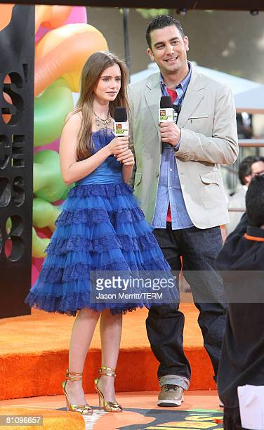 Lily Collins arrives on the red carpet at Nickelodeon's 2008 Kids' Choice Awards at the Pauley Pavilion on March 29 2008 in Los Angeles California