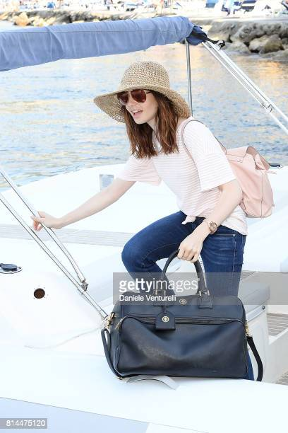 Lily Collins attends 2017 Ischia Global Film Music Fest on July 14 2017 in Ischia Italy