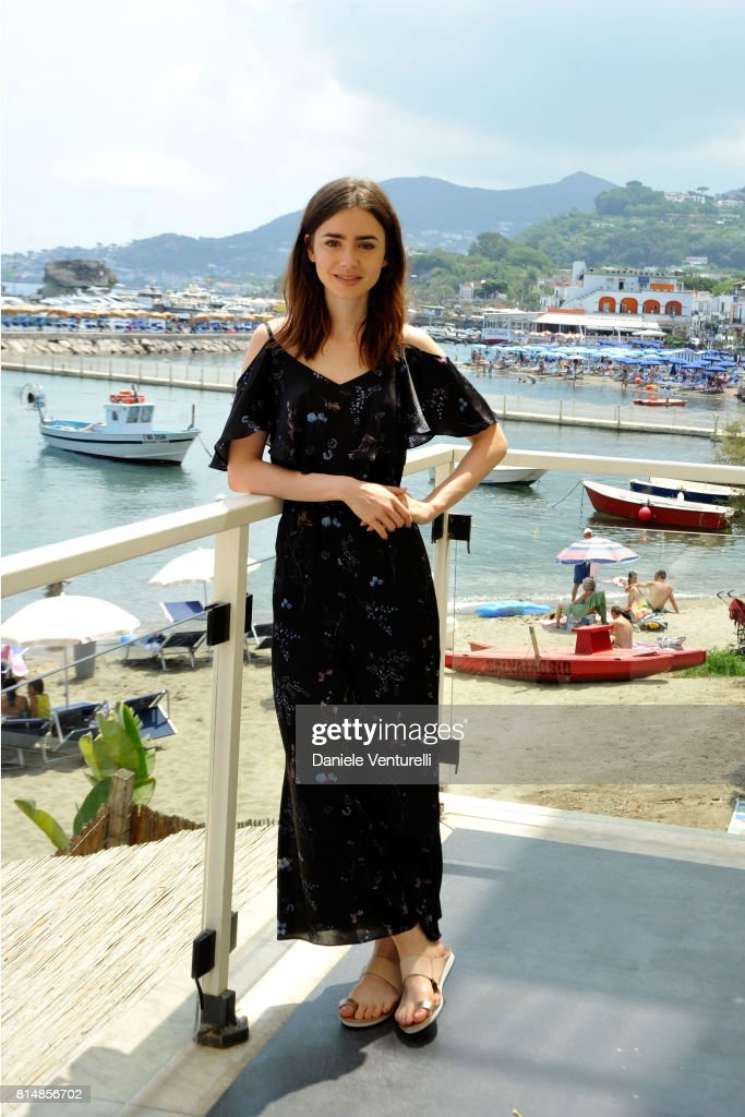 Lily Collins attends 2017 Ischia Global Film & Music Fest on July 15, 2017 in Ischia, Italy.