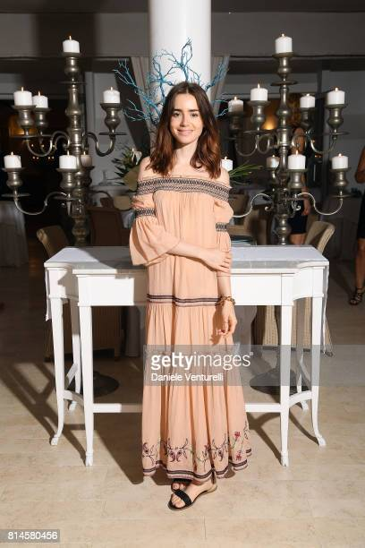 Lily Collins attends AMBI Media Group Dinner in honor for Lily Collins during the 2017 Ischia Global Film Music Fest at Hotel Mezza Torre on July 14...