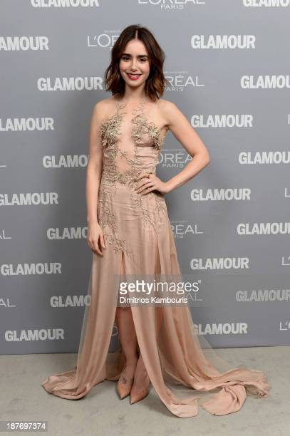 Lily Collins attends Glamour's 23rd annual Women of the Year awards on November 11 2013 in New York City