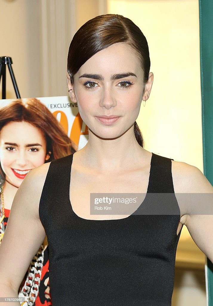 Lily Collins attends Lily Collins Seventeen Magazine September Cover Issue Celebration at Barnes Noble Union Square on August 6 2013 in New York City