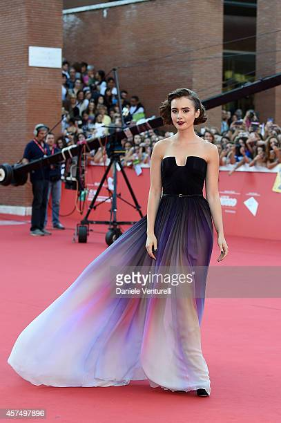 Lily Collins attends 'Love Rosie' Red Carpet during the 9th Rome Film Festival at Auditorium Parco Della Musica on October 19 2014 in Rome Italy