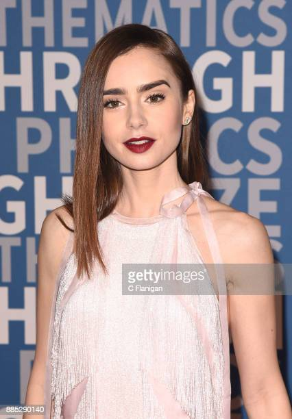 Lily Collins attends the 2018 Breakthrough Prize at NASA Ames Research Center on December 3 2017 in Mountain View California