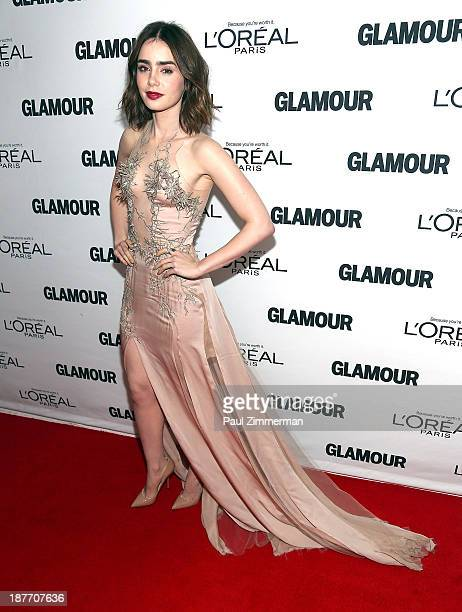 Lily Collins attends the Glamour Magazine 23rd annual Women Of The Year gala on November 11 2013 in New York United States