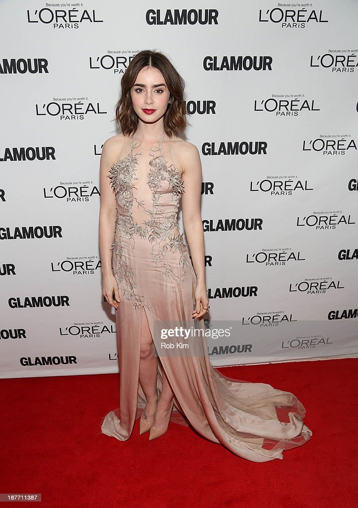 <a gi-track='captionPersonalityLinkClicked' href=/galleries/search?phrase=Lily+Collins&family=editorial&specificpeople=3520243 ng-click='$event.stopPropagation()'>Lily Collins</a> attends the Glamour Magazine 23rd annual Women Of The Year gala on November 11, 2013 in New York, United States.