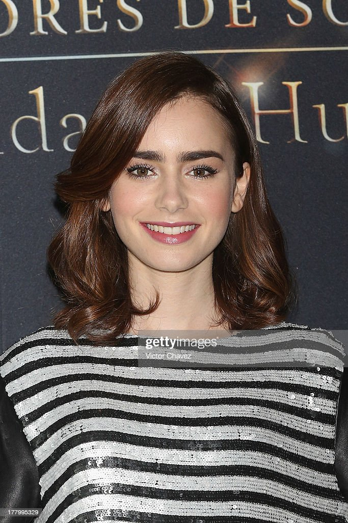<a gi-track='captionPersonalityLinkClicked' href=/galleries/search?phrase=Lily+Collins&family=editorial&specificpeople=3520243 ng-click='$event.stopPropagation()'>Lily Collins</a> attends 'The Mortal Instruments: City of Bones' Mexico City photocall at St Regis Hotel on August 26, 2013 in Mexico City, Mexico.