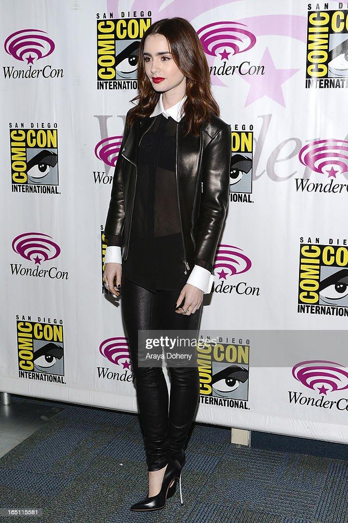 Lily Collins attends WonderCon Anaheim 2013 - Day 2 at Anaheim Convention Center on March 30, 2013 in Anaheim, California.