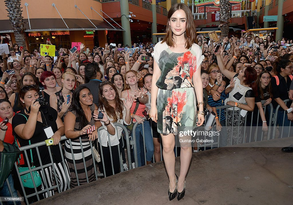 Lily Collins of 'The Mortal Instruments' in Miami at Dolphin Mall on July 31, 2013 in Miami, Florida.