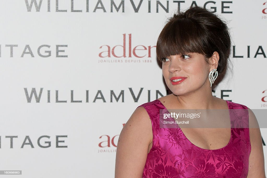 Lily Cooper attends the WilliamVintage Dinner Sponsored By Adler at St Pancras Renaissance Hotel on February 8, 2013 in London, England.