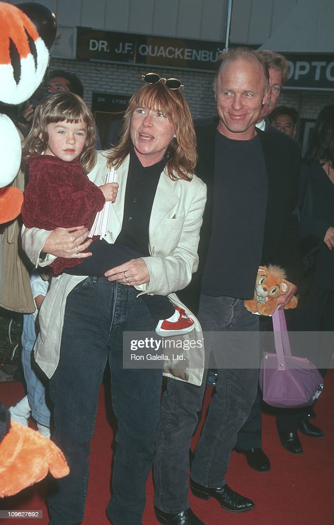 Lily Dolores Harris, Amy Madigan and Ed Harris during 'The Aristicats' Video Release - April 18, 1996 at Mann Village Theater in Westwood, California, United States.