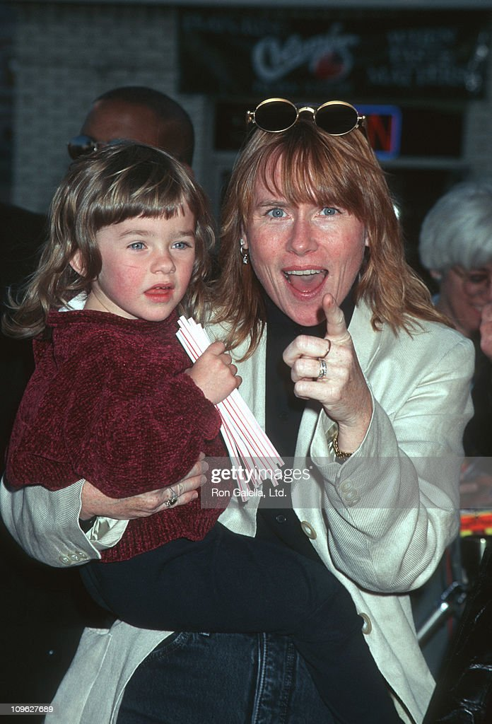 Lily Dolores Harris and Amy Madigan during 'The Aristicats' Video Release - April 18, 1996 at Mann Village Theater in Westwood, California, United States.
