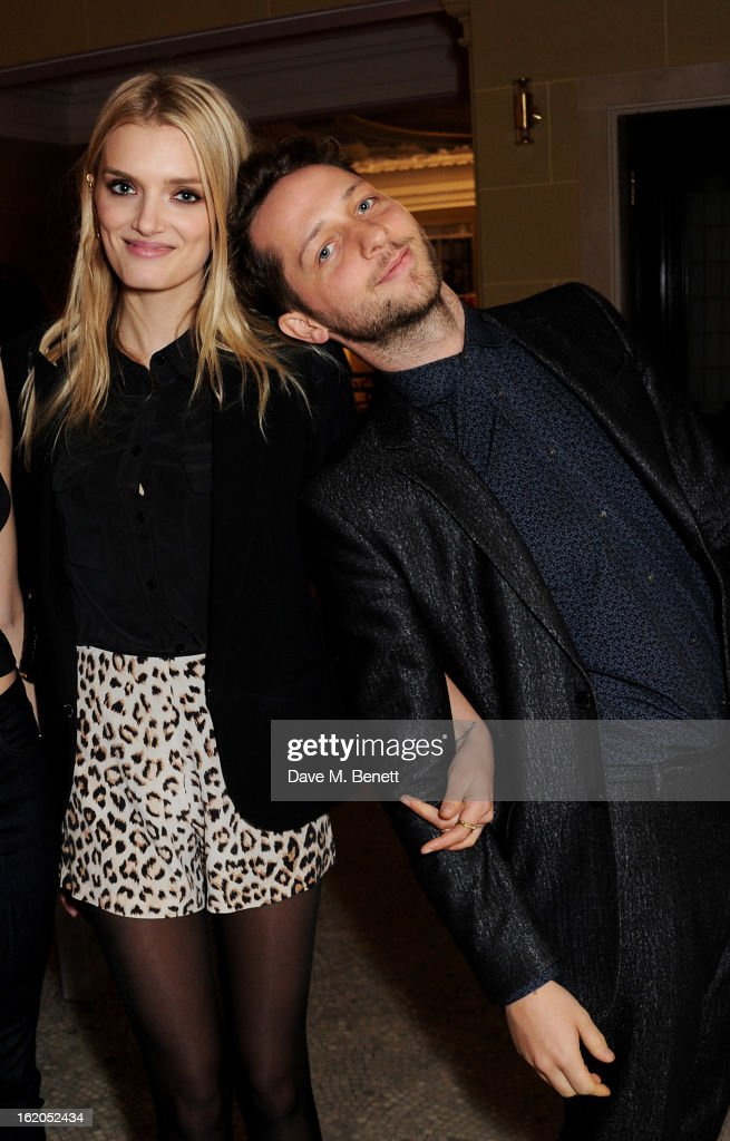 Lily Donaldson (L) and Derek Blasberg attend the AnOther Magazine and Dazed & Confused party with Belvedere Vodka at the Cafe Royal hotel on February 18, 2013 in London, England.