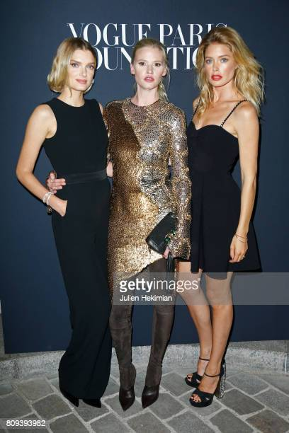Lily Donaldson and Doutzen Kroes attend Vogue Foundation Dinner during Paris Fashion Week as part of Haute Couture Fall/Winter 20172018 at Musee...