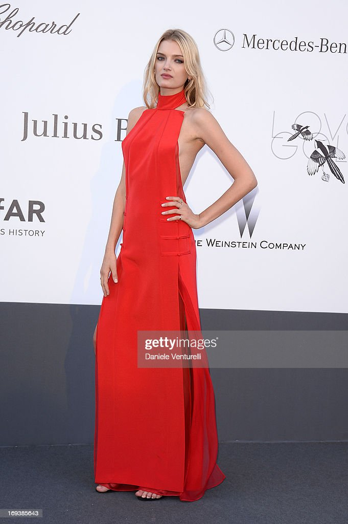 Lily Donaldson arrives at amfAR's 20th Annual Cinema Against AIDS at Hotel du Cap-Eden-Roc on May 23, 2013 in Cap d'Antibes, France.