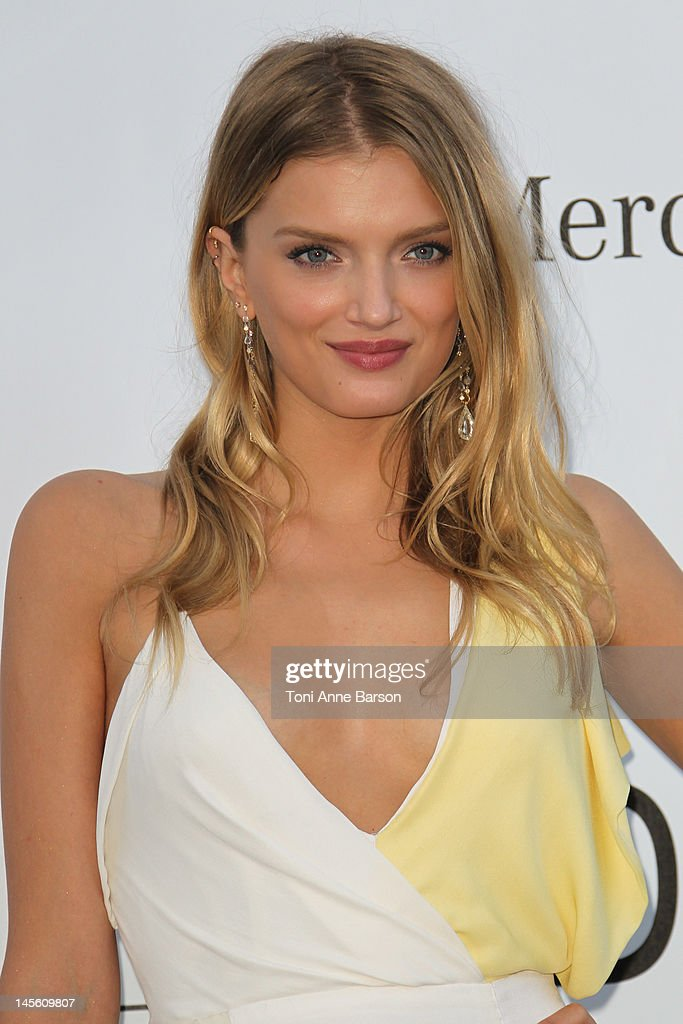 Lily Donaldson arrives at amfAR's Cinema Against AIDS at Hotel Du Cap on May 24, 2012 in Antibes, France.