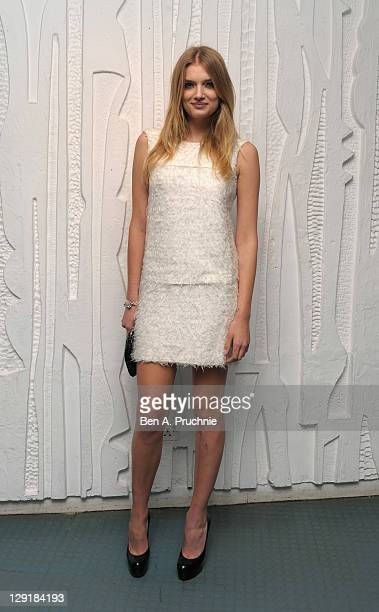 Lily Donaldson arrives at the Calvin Klein Collection Dinner to Celebrate the new home of London's Design Museum at The Design Museum on October 13...